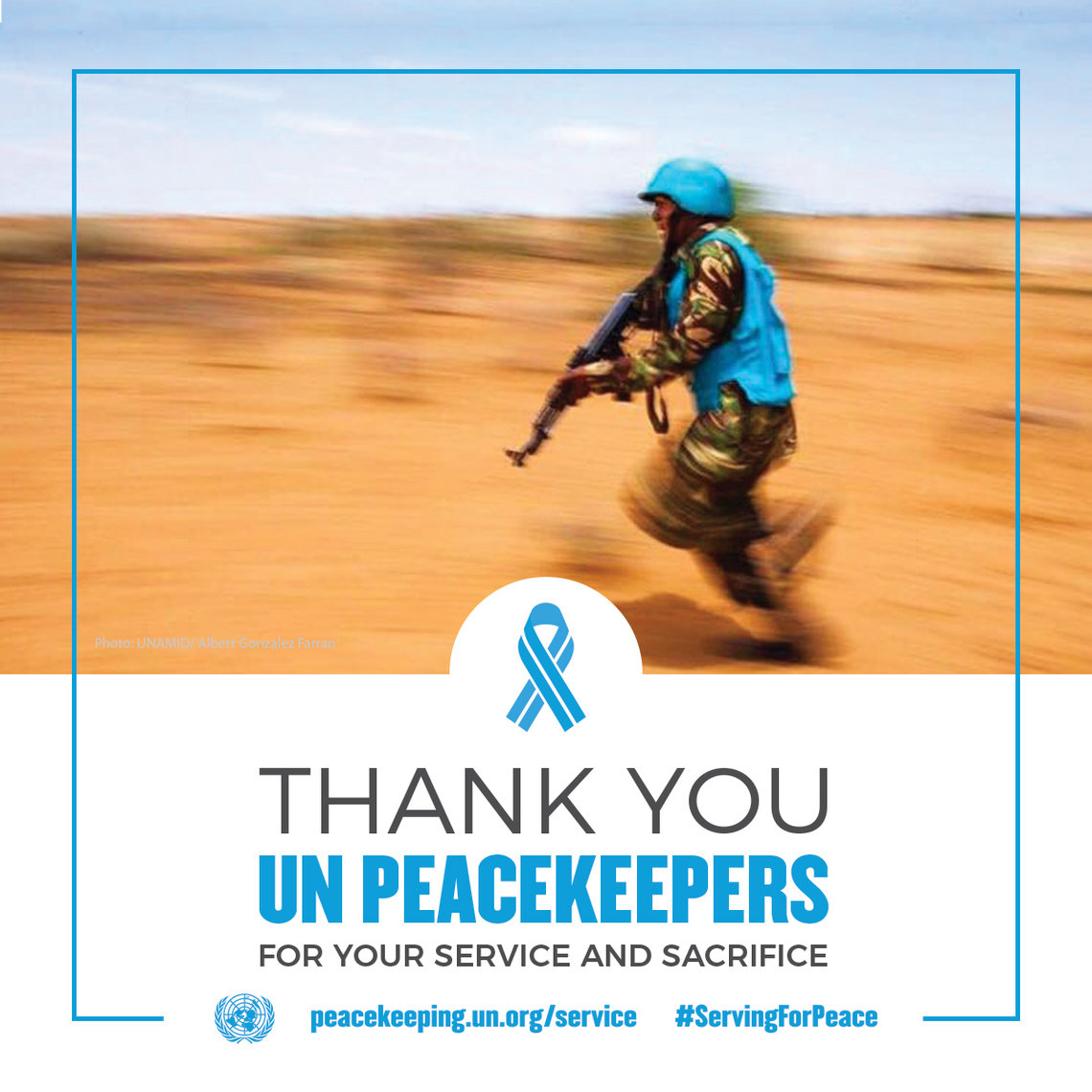Thank you peacekeepers for your service and sacrifice