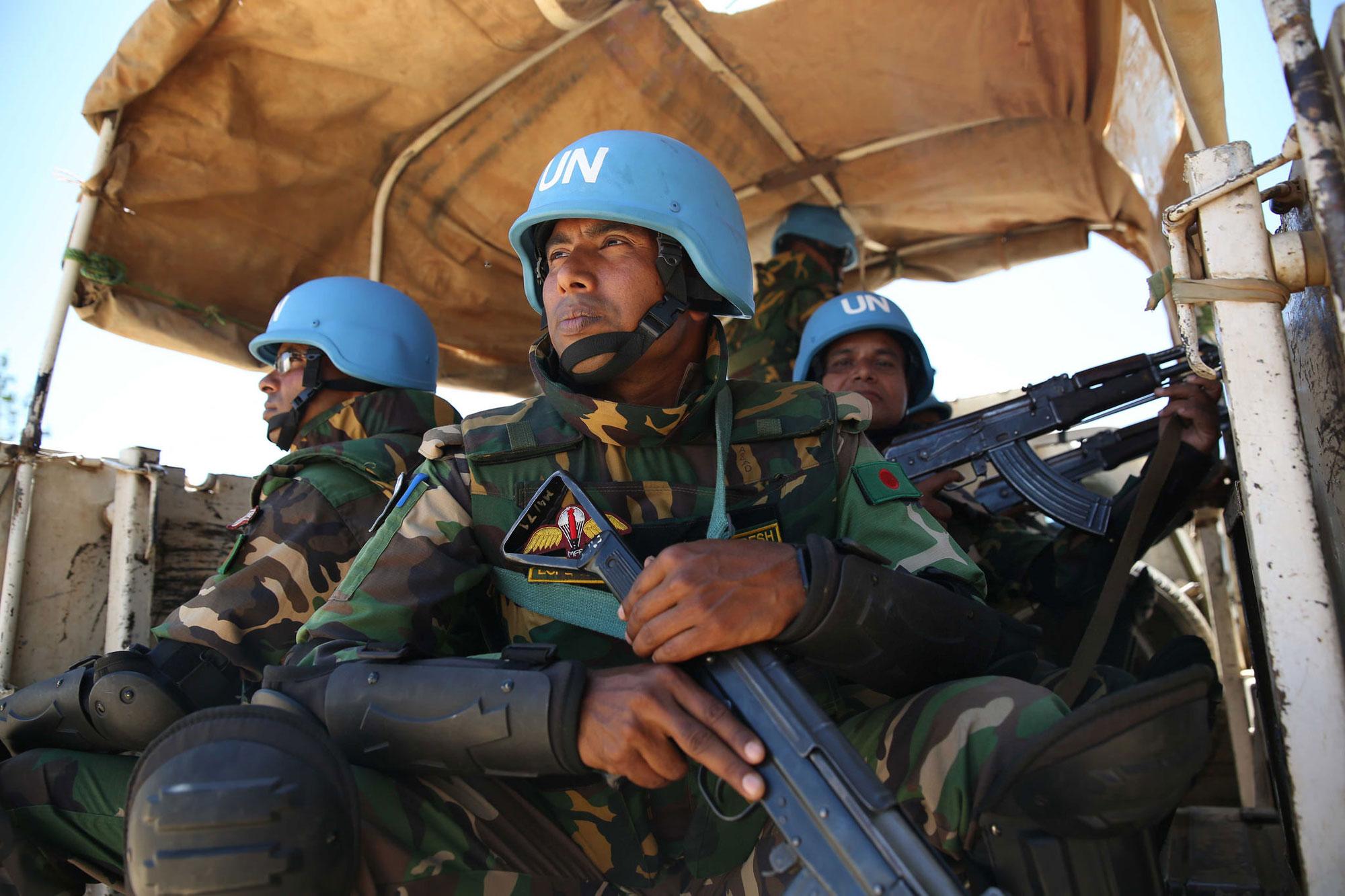 UN Peacekeepers on patrol in Bunia, Ituri Province, DR Congo