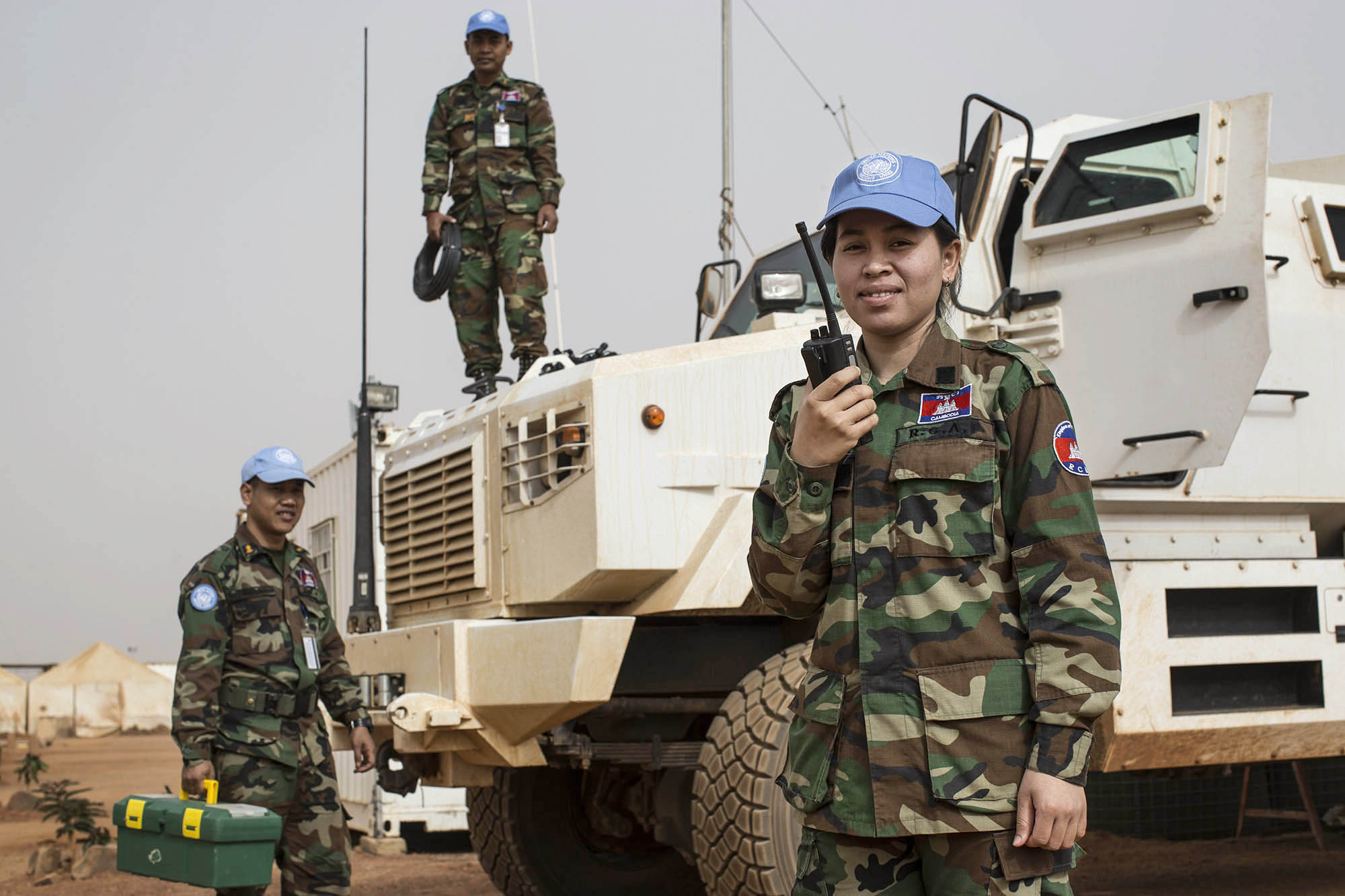 Peacekeepers with Truck