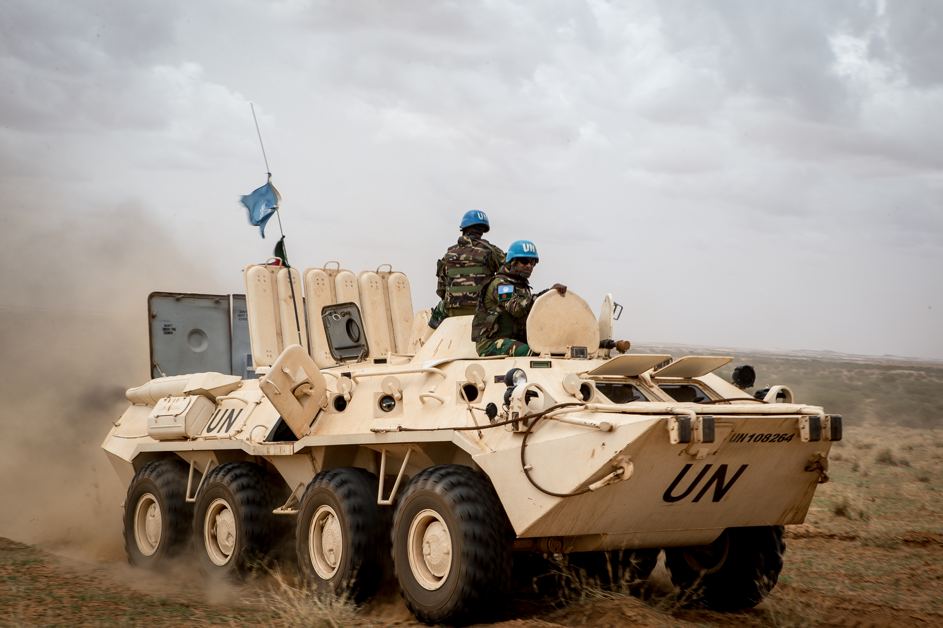 MINUSMA Peacekeepers, during Operation Military 'FRELANA' to protect civilians and their property.