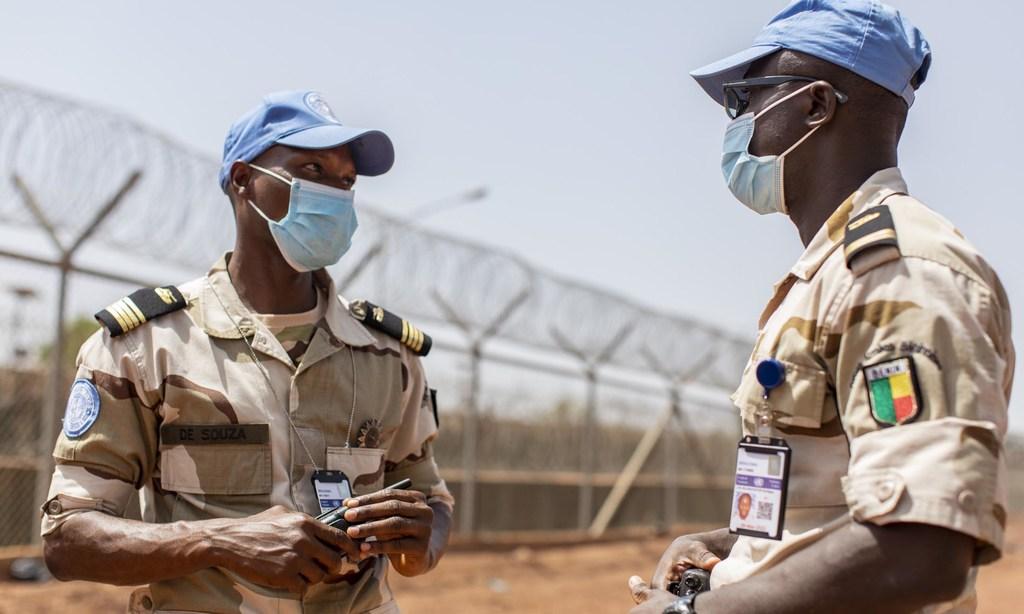 Major Akandal de Souza (left) is the Commander of the Benin contingent at MINUSMA, Mali
