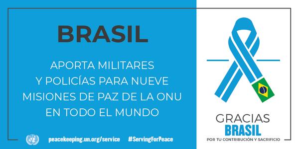 Brasil aporta militares y policías para nueve misiones de paz de la ONU en todo el mundo