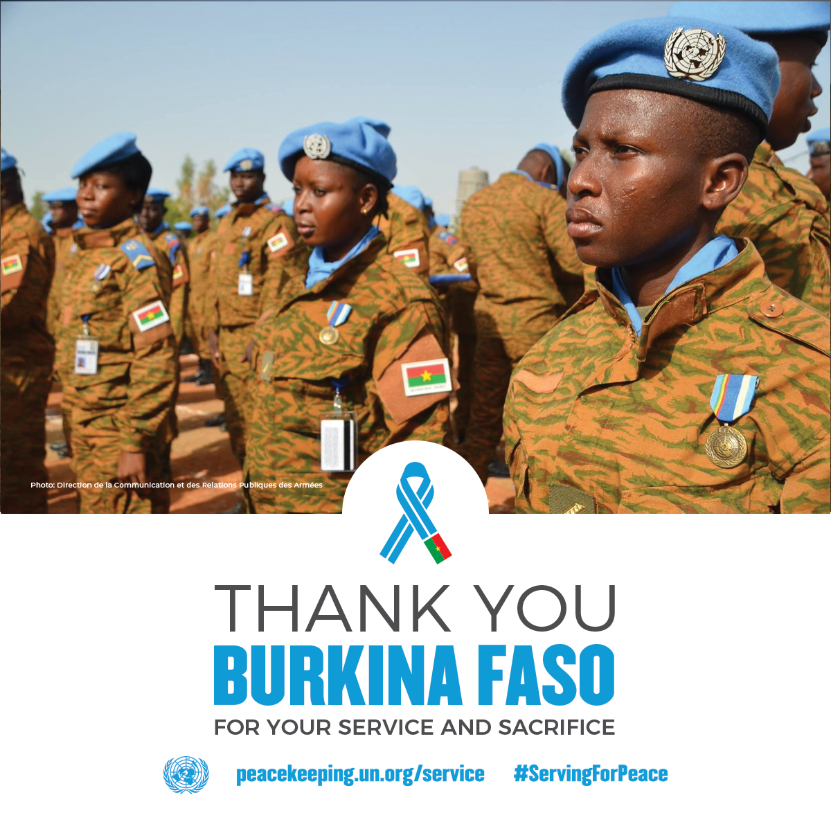 Peacekeepers from Burkina Faso