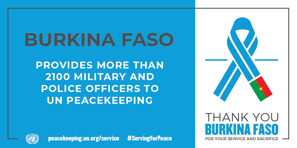 Burkina Faso provides more than 2100 military and police personnel
