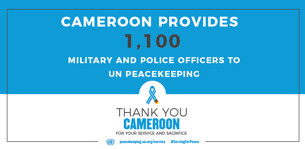 Cameroon provides 1100 peacekeepers