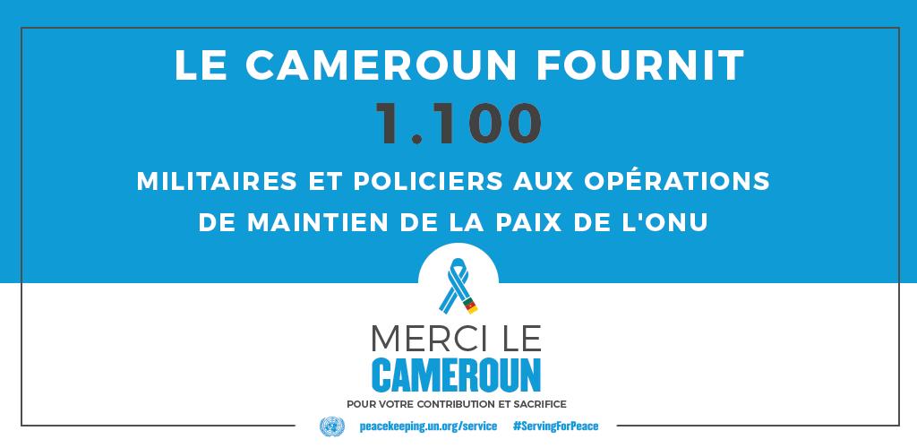 Le Cameroun fournit 1100 militaire et policiers