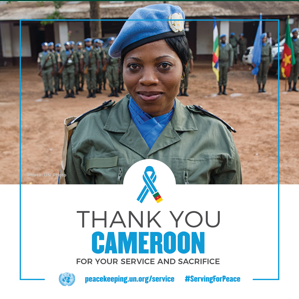 A female peacekeeper from Cameroon