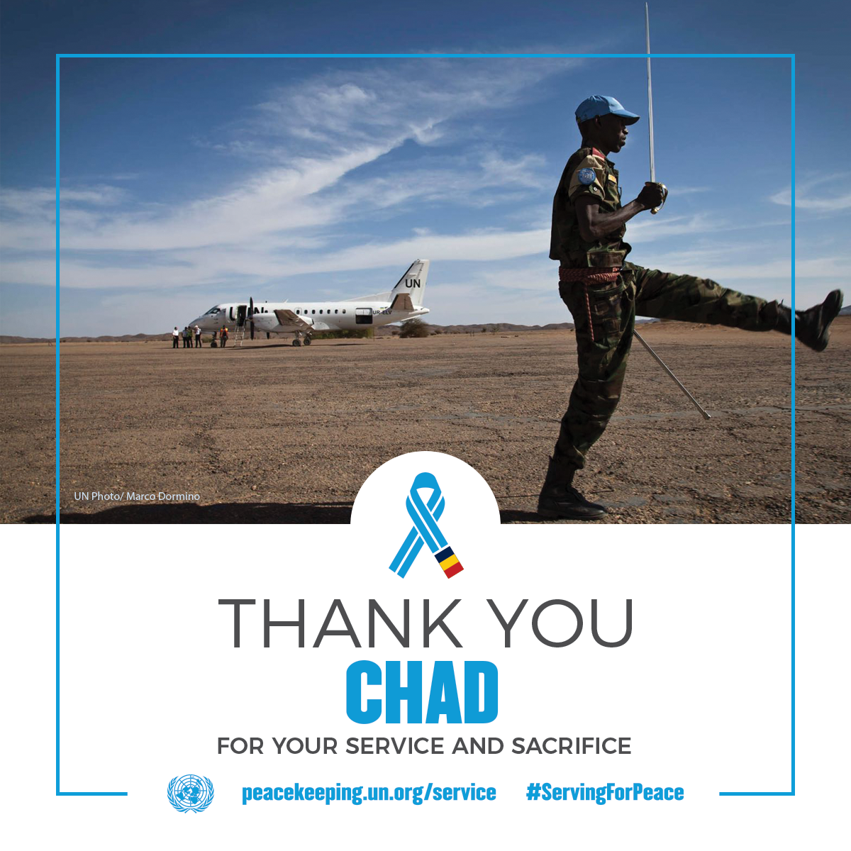 Chadian peacekeepers serving in the UN Mission in Mali | UN Photo
