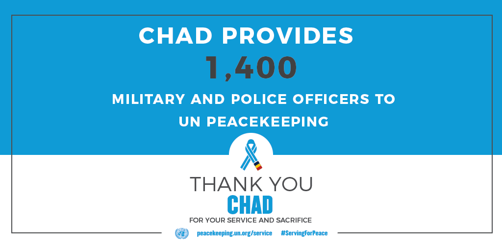 Chad provides 1400 peacekeepers