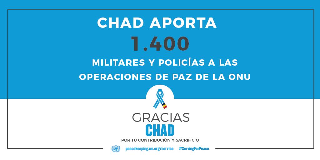 El Chad aporta 1400 militares y policías a las operaciones de mantenimiento de la paz de la ONU.