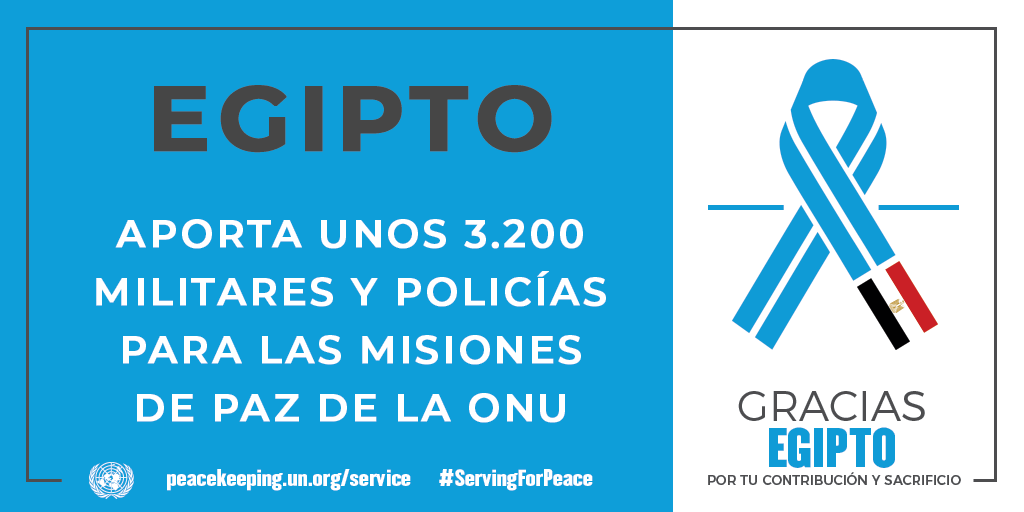 Egipto aporta unos 3200 militares y policías para las misiones de la paz de la ONU.
