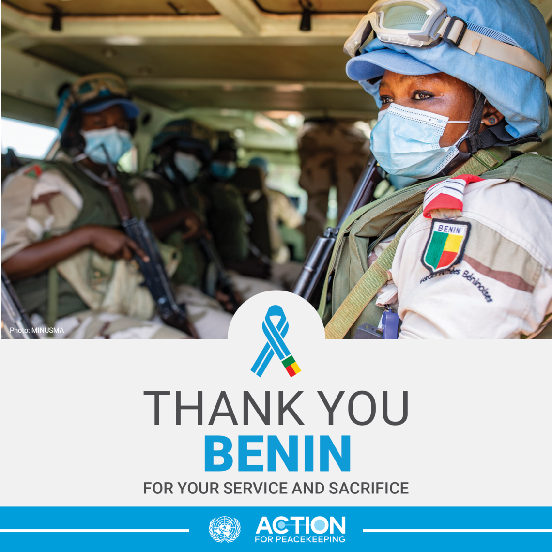 Thank you Benin for your service and sacrifice