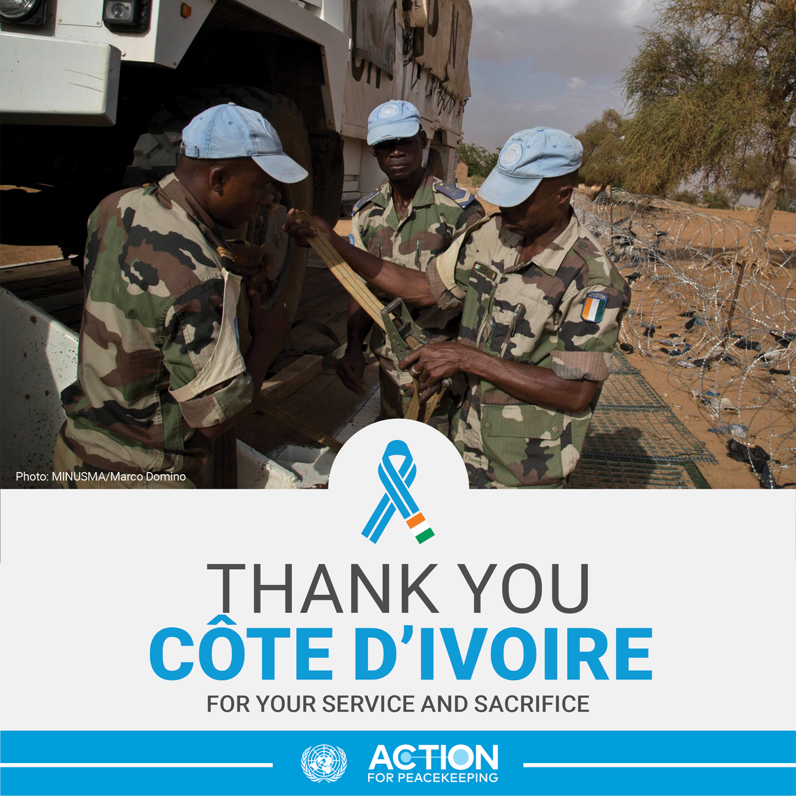 Thank you Côte d'Ivoire for your service and sacrifice