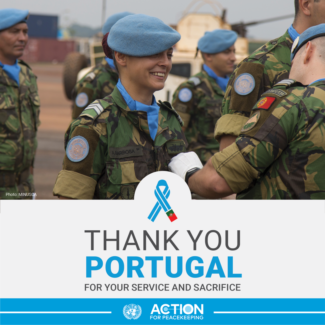 Thank you Portugal for your service and sacrifice