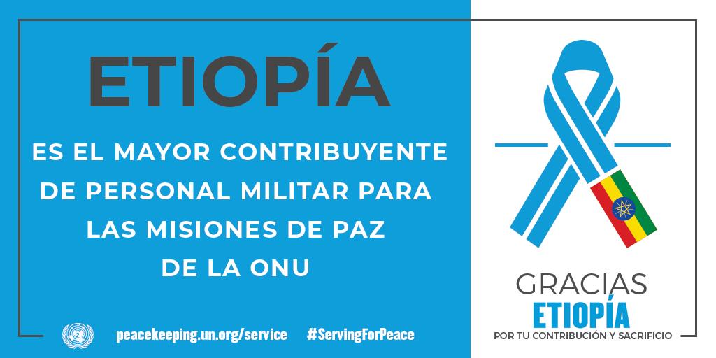 Etiopía es el mayor contribuyente de personal militar para las misiones de la paz de la ONU.