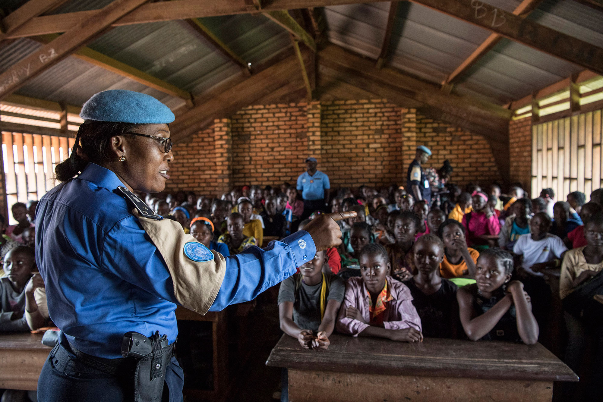 Gladys Ngwepekeum Nkeh is a United Nations police officer from Cameroon, one of some 12,870 uniformed personnel working with the UN peacekeeping mission in the Central African Republic.