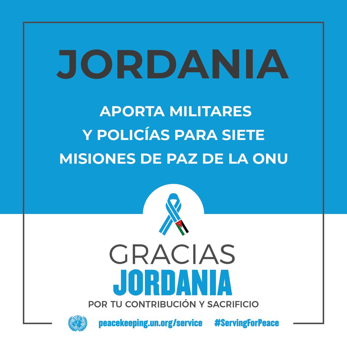 Jordania aporta militares y policías para siete Misiones de Paz de la ONU