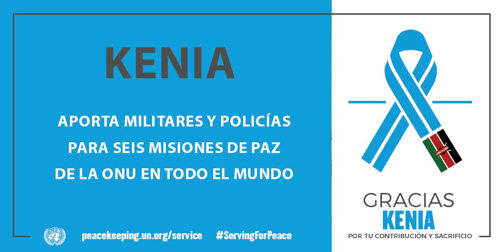 Kenia aporta militares y policías para seis misiones de paz de la ONU en todo el mundo