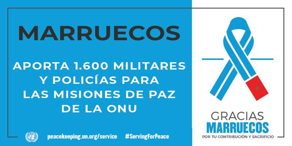 Marruecos aporta 1 600 militares y policías para las misiones de paz de la ONU