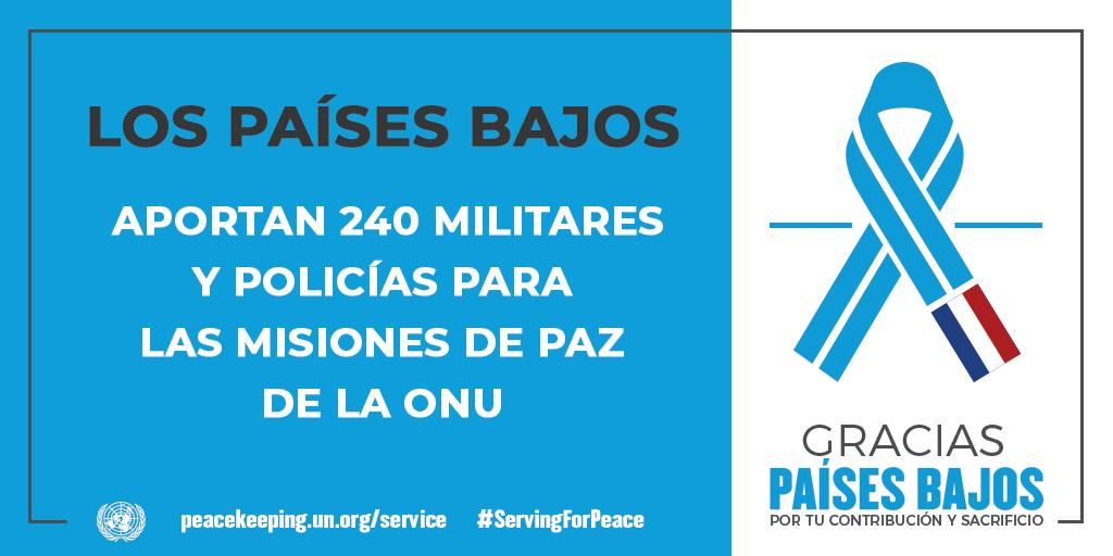 Los Países Bajos aportan 240 militares y policías a las misiones de la paz de la ONU.