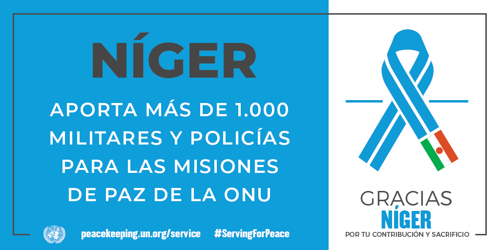 Níger aporta más de 1.000 militares y policías para las Misiones de Paz de la ONU
