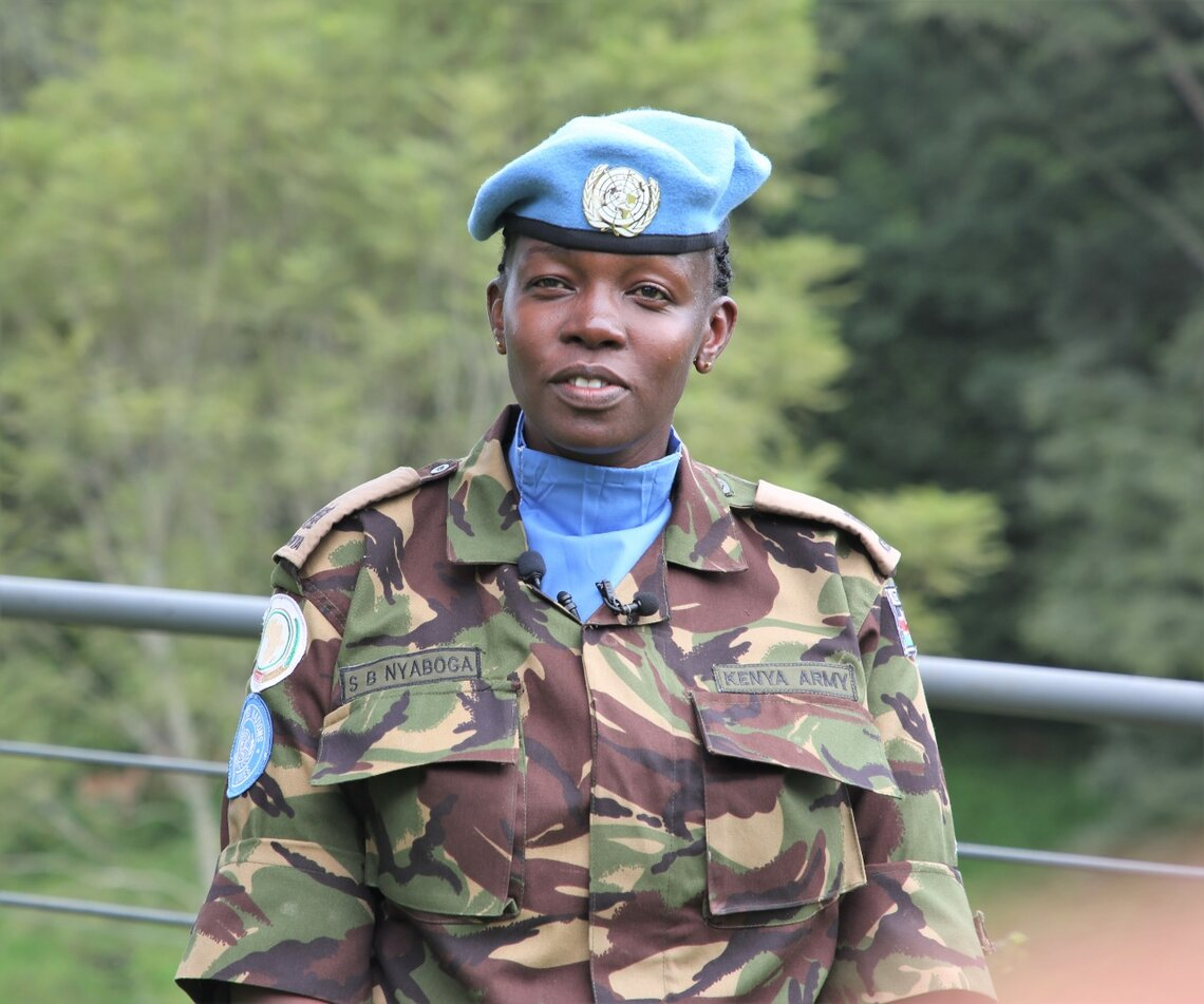 Military Gender Advocate of the Year 2020 - Staff Officer Major Steplyne Nyaboga from Kenya