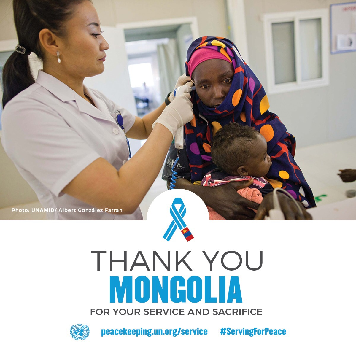Thank you Mongolian peacekeepers for your service and sacrifice