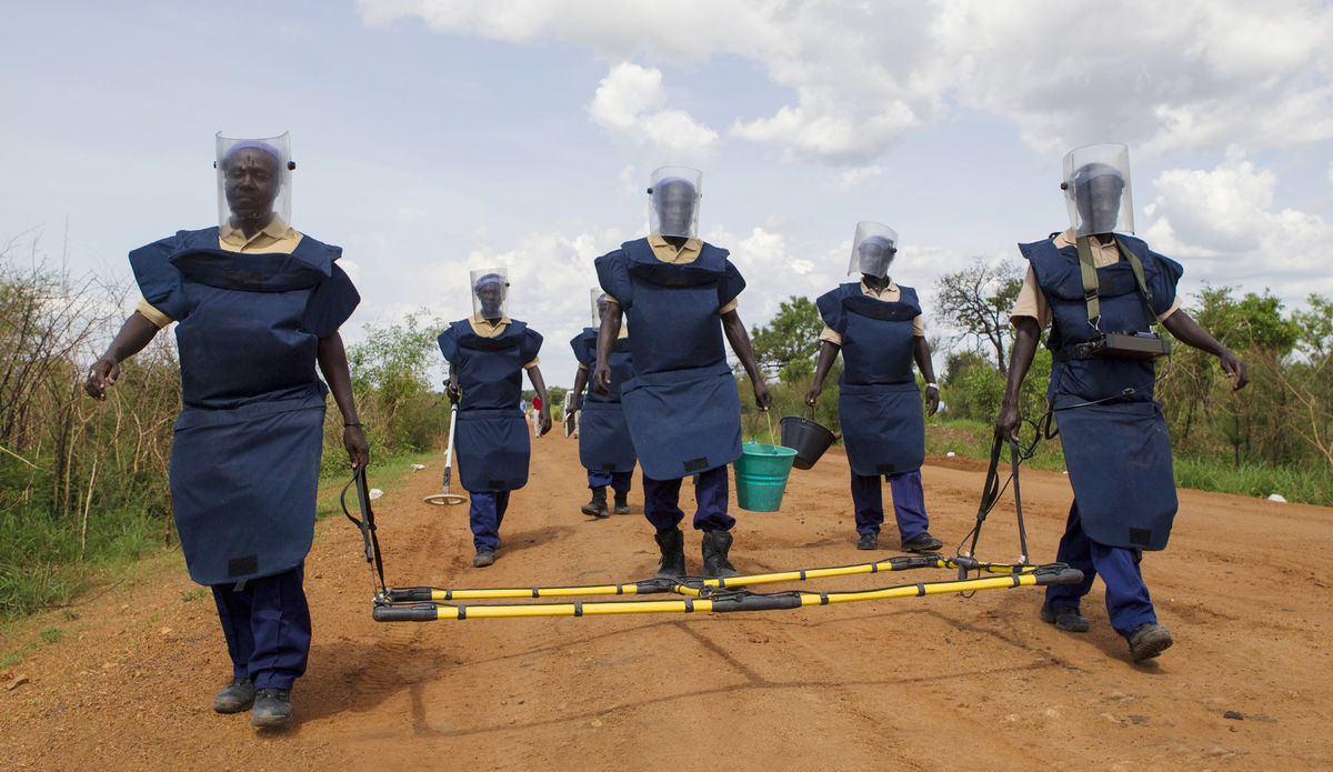 UNMAS integrated mine clearance team in Torit