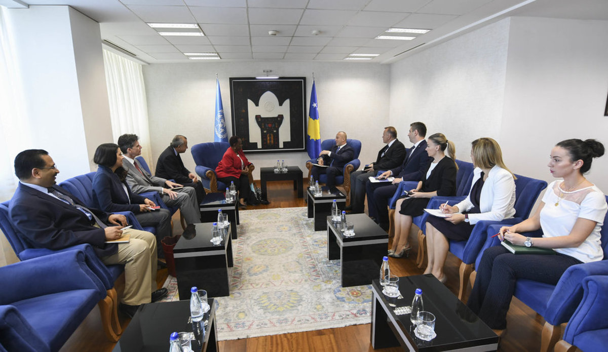 ASG Keita and SRSG Tanin Met with Kosovo Prime Minister and Minister