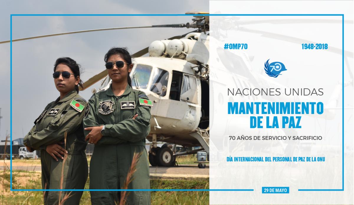 En 2017, Bangladesh envió a dos mujeres piloto de combate, las Tenientes de Aviación Nayma Haque y Tamanna-E-Lutfi a la misión de la ONU de la República Democrática del Congo, la MONUSCO.