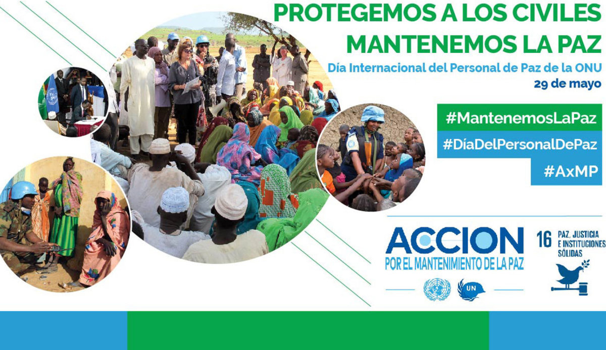 Cartel del Día Internacional del Personal de Paz de la ONU 2019