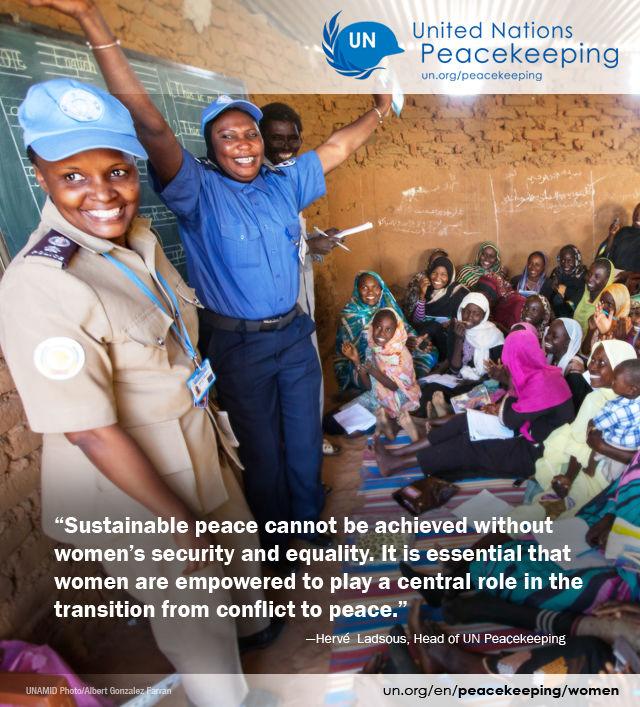 Women in peacekeeping   United Nations Peacekeeping