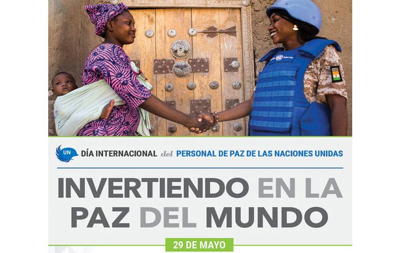 Cartel del Día Internacional del Personal de Paz de la ONU