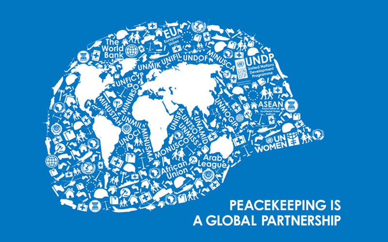 Peacekeepers Day: Peacekeeping is a Global Partnership Graphic