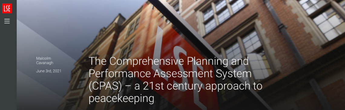 CPAS - a 21st century approach to Peacekeeping