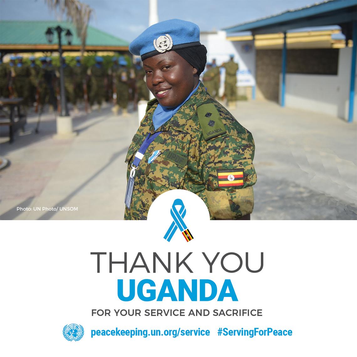 Ugandan peacekeeper serving in UNSOM