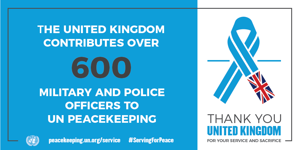 UK contributes over 600 military and police to UN Peacekeeping