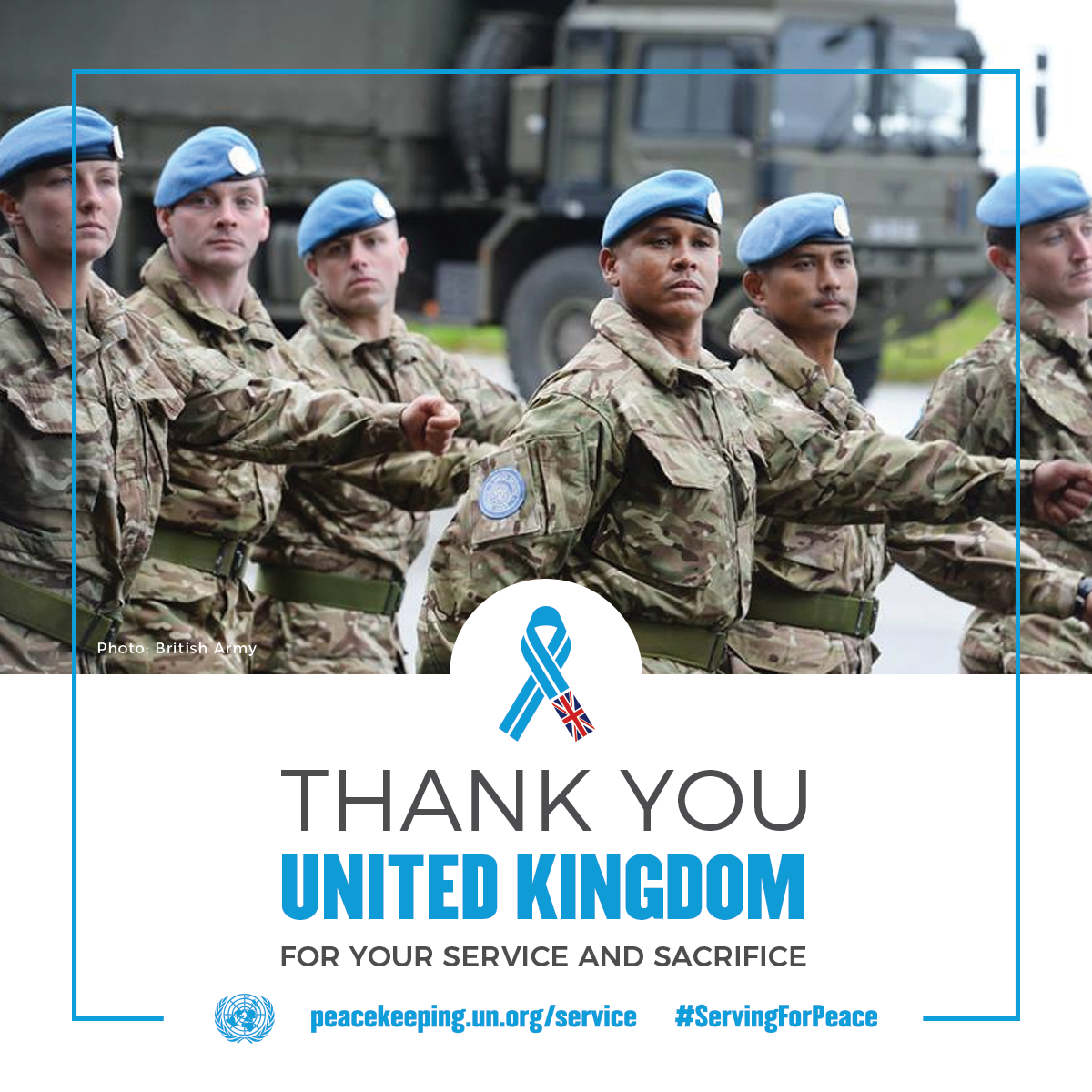 Thank you UK peacekeepers for your service and sacrifice