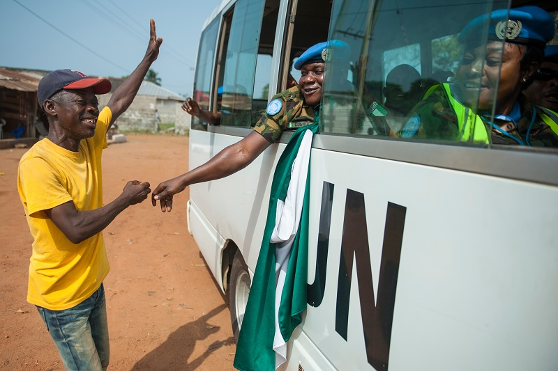 Nigerian peacekeepers serving with UNMIL depart