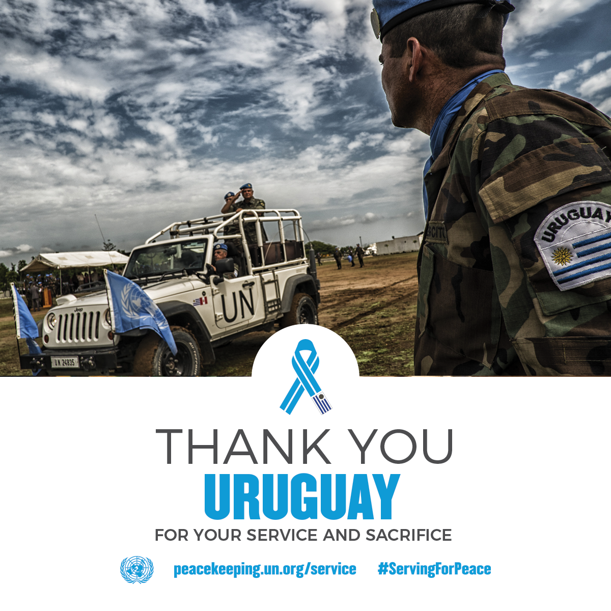 Thanks Uruguay for your service and sacrifice